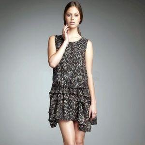 "Theory ""Rikina"" Silk Print Dress"
